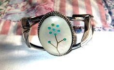BRACELET Cuff  MOP  Mother of Pearl  ZUNI  Inlay   by MOONCHILD111