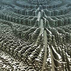 #voxelart #magicavoxel #render #3d #abstract #random #speedbuild #landscape #mountains #fractal #Ripples