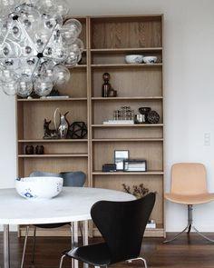 "841 Likes, 22 Comments - Jesper Klintdrup Poulsen (@klintdrupp) on Instagram: ""Finally i got my big bookshelf 👌🏼 #bogreol #fritzhansen #pk9 #pk54 #poulkjærholm #danskdesign…"""