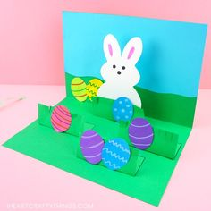 How to make a pop up Easter card -This homemade Easter card is a fun and easy craft for kids of all ages to make for Easter. Simple pop up handmade greeting cards. cards handmade kids pop up How to Make a Pop Up Easter Card -Easy Easter Craft for Kids Kids Crafts, Easter Arts And Crafts, Diy Easter Cards, Cards Diy, Easy Art For Kids, Egg Card, Kids Pop, Homemade Cards, Making Ideas