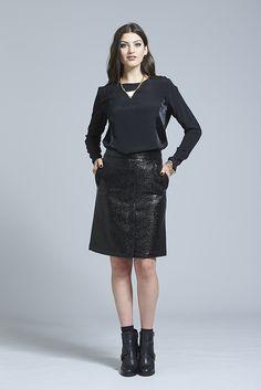 Little Liar Top ⋆ Erina Emery Little Liars, Skirt Pants, Black Wool, A Line Skirts, Lace Skirt, Women Wear, Winter, Sexy, How To Wear