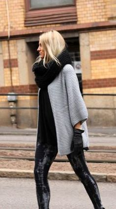 Oversize Open Front Cardigan -- Fall fashion <3