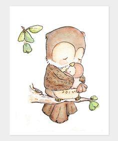 Forest Fun: Kids' Décor - LoxlyHollow My Baby Owl Print | zulily