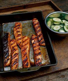 Teriyaki Salmon With Cucumber Salad