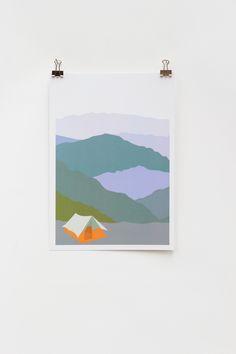 Weekend Explorer - Tent  |  Digital Print