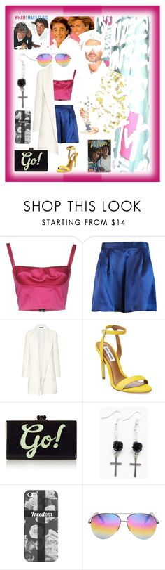 """Untitled #635"" by jeauhall ❤ liked on Polyvore featuring Plakinger, The Row, Steve Madden, Edie Parker, Casetify, Victoria Beckham and georgemichael"
