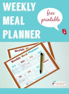 Free Printable Weekly Meal Planner  | Make planning meals easier with this free printable | See more ways to live a creative life on TodaysCreativeLife.com