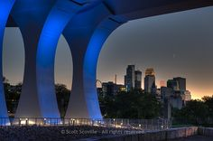 The new bridge arches over the Minneapolis Minnesota skyline. Minneapolis Skyline, Minneapolis Minnesota, We Built This City, Landscaping Software, Twin Cities, Marina Bay Sands, Bridge, Building, Photography
