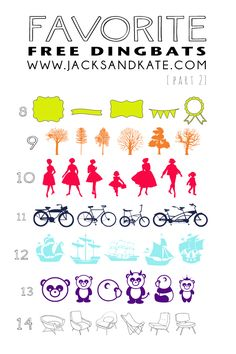7 Favorite Free Dingbats (part 2)  ~~  with Easy Links  ~~
