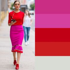 Women like to look and feel their best when they go out. One of the keys to this is understanding all about fashion and how it works. Colour Combinations Fashion, Color Combinations For Clothes, Color Blocking Outfits, Fashion Colours, Colorful Fashion, Colour Blocking Fashion, Color Combos, Mode Outfits, Fashion Outfits