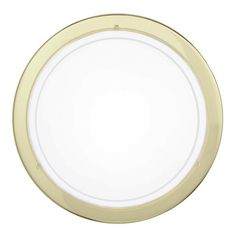Eglo 83157 Planet 1 Brass & Satinated Glass Wall & Ceiling Light 290mm. The dimensions of the Eglo Lighting Planet 1 are Diameter 290mm x Projection 85mm. The Eglo 83157 fixture is finished in a stunning Brass, manufactured using high grade Steel. The shade is finished in White & Clear and the material is Coated Glass. The type of lamp that is required for the fitting is E27 with a maximum wattage power of 1 x 60W (lamp is Not Included with the light fixture). IP Rating Is IP20.