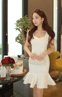 Morpheus Boutique  - White Flare Sleeveless Designer Dress, $99.99…