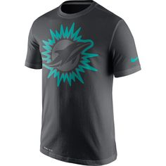Men's Nike Anthracite Miami Dolphins Travel Performance T-Shirt