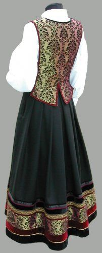 Beautiful bunad design from Inger Grefstad at Trønder Design. Her website is: www. Folk Costume, Costume Dress, Costumes, Mori Fashion, Folk Clothing, Unique Dresses, Scandinavian Design, Traditional Outfits, Norway