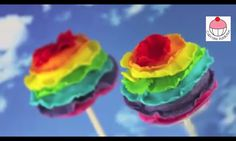 Rainbow Ruffle cakepops made by 'Cupcake Addiction'- Check out the tutorial on Youtube!