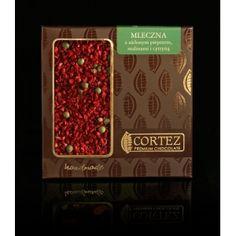 Czekolada Cortez z pieprzem cytrynowym i malinami  #czekolada #cortez #chocolate #lemon #pepper #raspberry #maliny #pieprz #cytrynowy