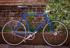 Vintage LightBurn Cycles Fixie / Fixedgear bike Project / BLUE / 700c wheels