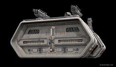 Sci-fi architecture bunker