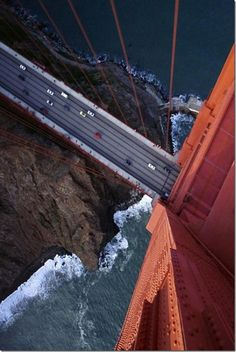 A dizzying look at the Golden Gate Bridge, accessed from San Diego via Southwest Airlines, United Airlines and Virgin America.