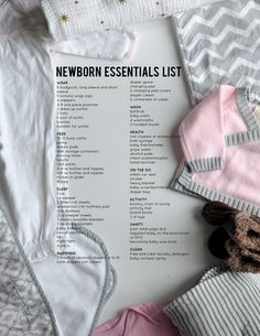 What do you really need for your newborn? Here's a newborn essentials list we've compiled that helps expecting moms be prepared. Baby Needs List, Baby List, Baby Skin Care, Baby Care, Newborn Essentials List, Newborn Necessities List, Baby Essential List, Baby Registry Checklist, Bye Bye Baby Registry