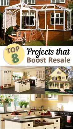Top Projects that Boost Resale Value- Great tips, projects and tutorials to increase your home value