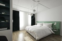 Gamlebyen — cecilie claussen Bedroom Green, Green Rooms, Bed Frame Sizes, Types Of Beds, Bed Mattress, Colorful Furniture, California King, Bunk Beds, Inspiration