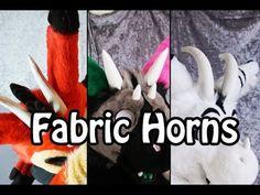 //Tutorial// Fabric Horns - YouTube