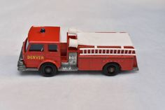 Matchbox Lesney No. 29 Fire Pumper Truck 1960's, made in England Original Vintage Die Cast Toy Car Collection by RememberWhenToys on Etsy