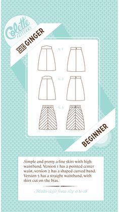 Ginger Skirt Pattern No. 1016   Supply   Patterns   Kollabora