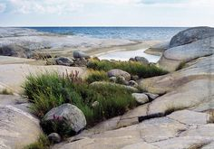 Stockholm, Sweden stone beaches or what you can call it. <3  Stockholms Skärgård