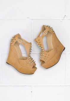 Spiked Platform Wedges are to die for!