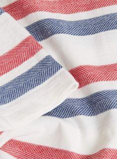 ECRU HERRINGBONE STRIPE T-SHIRT - Men's T-shirts & Tanks - Clothing