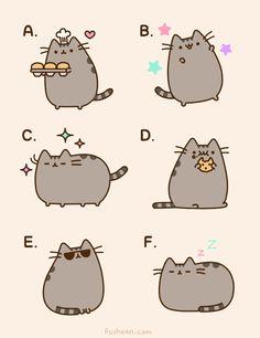 Pusheen is so cute,right? Coment what is your favorite foto! (My favorite is the B)/Pusheen es super cuqui,¿verdad? Cometa cual es tu foto favorita (My favorita es la B) Pusheen Book, Gato Pusheen, Simons Cat, Cat Comics, Kawaii Cat, Cute Doodles, Fat Cats, Kawaii Drawings, Cat Drawing