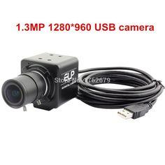 68.39$  Buy here - http://ali7o4.worldwells.pw/go.php?t=32785666230 - 960P USB Video Surveillance camera 1280*960 HD 2.8-12mm zoom varifocal lens Aptina AR0130 metal box usb camera for atm security