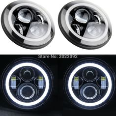 96.88$  Watch now - http://aliuu7.worldwells.pw/go.php?t=32648509799 - 7 Inch 45w LED Headlight with Halo Ring Turn Signal White/white Headlamp for J eep Harley Offroad Vehicles