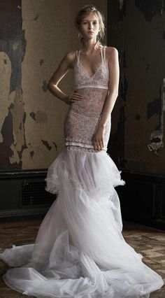 Vera Wang 2016:  It would take such a unique, confident type to don this dress.  Perfect body, perfect poise and perfect occasion, too.