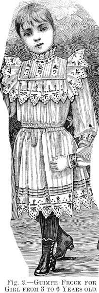 Guimpe frock for a girl from 3 to 6 years old, Harper's Bazaar- 1892