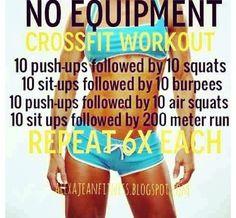 No equipment crossfit.