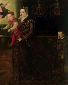 Portrait of a Family with Arms of Mosto and Costanzo, byJacopo Robusti (Tintoretto), c. 1570s Venice