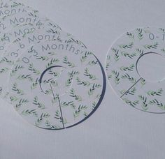 My new green leaf design baby clothes dividers. Please use link for more info. £8 + p&p