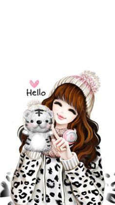 Cartoon Girl Images, Cute Cartoon Girl, Cartoon Girl Drawing, Anime Girl Cute, Anime Art Girl, Lovely Girl Image, Cute Girl Pic, Cute Little Girls, Girly Images