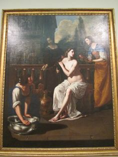 """Bathsheba"" by Artemisia Gentileschi, in the Columbus Art Museum"