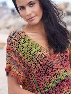 Crochet Tank Tops, Crochet Summer Tops, Crochet Blouse, Knit Tops, Crochet Clothes, Crochet Sweaters, Summer Sweaters, Crochet Woman, Crochet Fashion
