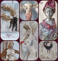 Διακοσμητικά Αγαλματίδια και Καμβάδες με Mixed Media Τεχνικές και Powertex! Statue, Blog, Blogging, Sculptures, Sculpture