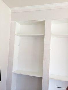 boards on shelves