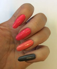 Blogger Funky and fifty created this colorful manicure with Lumene Gel Effect nail polishes in new spring shades. #lumene #nailpolish