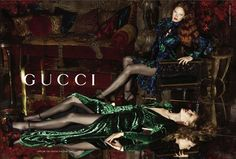 Gucci Fall 2012 Fashion Ad Campaign.  I've seen THAT green dress in person and it is insane.