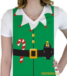 Get in the holiday running spirit with our runner elf performance shirt!