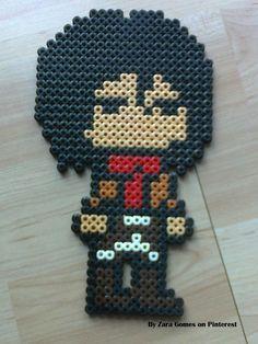 Mikasa Ackerman - Attack on Titan hama beads by Zara Gomes