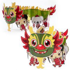 Ni Hao, Kai-Lan Paper Dragon Centerpiece